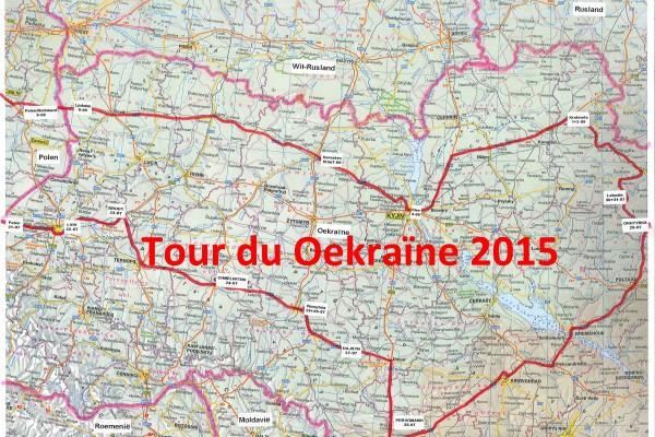 Kaart UA reis 2015